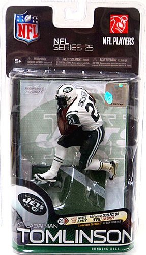 Diego Chargers Uniform San (McFarlane Toys NFL Sports Picks Series 25 Action Figure LaDainian Tomlinson (New York Jets)White Jersey Variant)