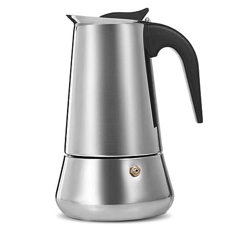 Cafetera Moka de Acero Inoxidable de 450 ml Máquina de café ...