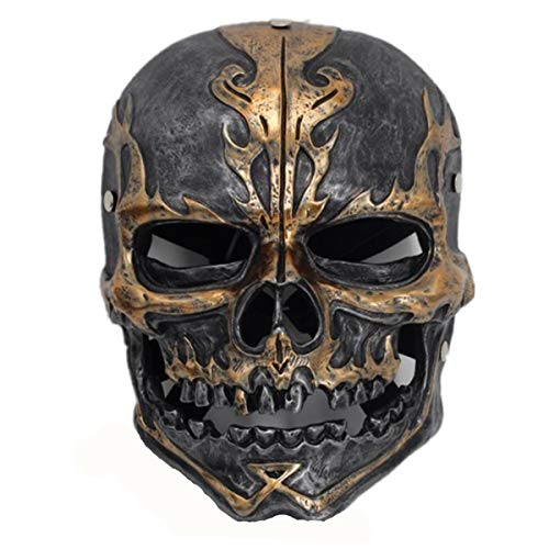 WalkingMan Pirates of The Caribbean Mask Deluxe Skull Movie Resin Helmet Full Face Halloween Cosplay Costume Party Props Adult
