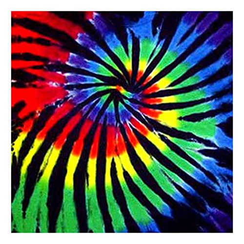 Tie Dyed Shop Tie Dye Bandana for Men Women - Stained Glass -