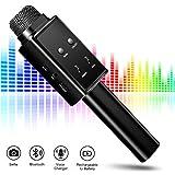 Best Karaoke Microphones - Wireless Bluetooth Microphone, Karaoke KTV Machine with Speaker,Selfie Review