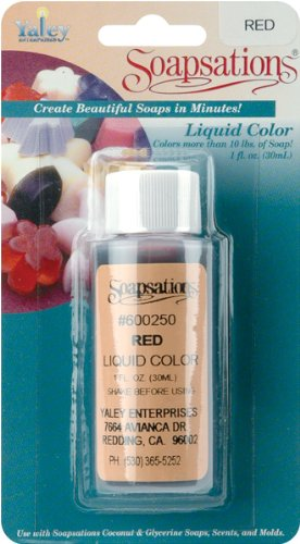 WMU 659466 Soapsations Liquid Color 1 Ounce Bottle - Red