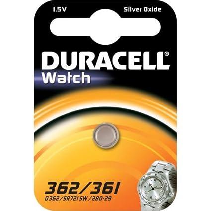 Duracell 362/361 batería no-recargable: Amazon.es: Electrónica