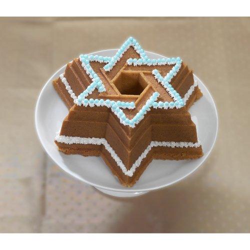 Nordic Ware Bundt Bakeware Cast Aluminum Nonstick Star of David Bundt Pan