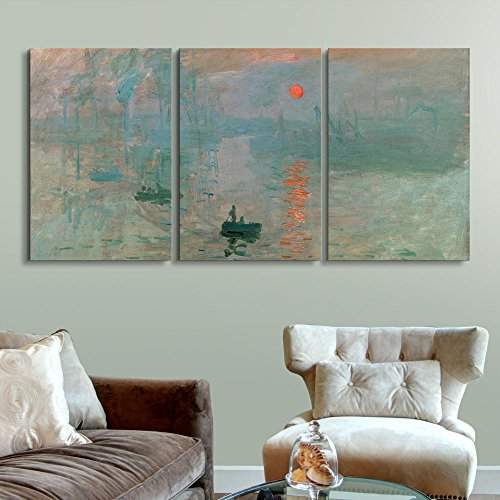 3 Panel Impression Sunrise by Claude Monet Gallery x 3 Panels