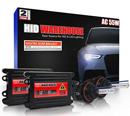 HID-Warehouse® AC 55W HID Xenon Conversion Kit with Premium Slim Ballast - Bi-Xenon 9007 5000K - Bright White - 2 Year Warranty