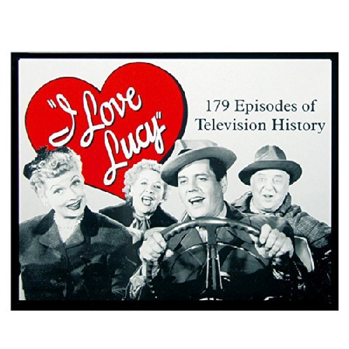 Joycenie New Metal Tin Sign I Love Lucy - TV History 8x12 Inches