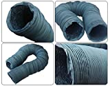 "SixTools Flexible PVC Ducting Hose 4"" by 35Ft"
