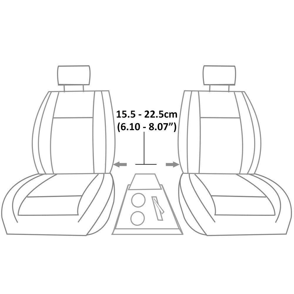 piel sint/ética Universal 42007 Reposabrazos para consola central de coche color gris