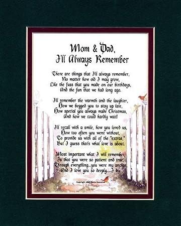 Amazon.com: Mom & Dad, I'll Always Remember. #136, A Thank-You ...
