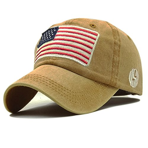 LONIY American Flag Camouflage Baseball Cap Low Profile Tactical Hats for Police Law Enforcement Embroidered Cap ()