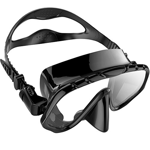 Zionor M1 Diving Mask Low Volume Design Tempered Glass Lens Wide View Distortion-Free Durable Liquid Silicone for Scuba Diving Snorkeling Freediving ()