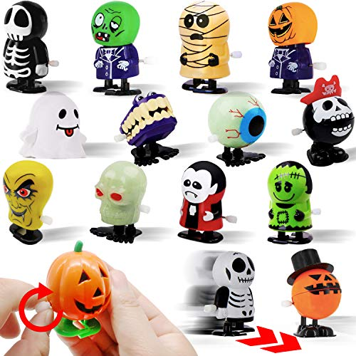15 PCs Wind Up Halloween Toys Assortment Party Favors for Halloween Trick or Treat Goody Bags Prizes from Kiddokids