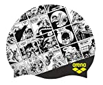 Arena WB Superheros Gorro de natación de Silicona, Batman