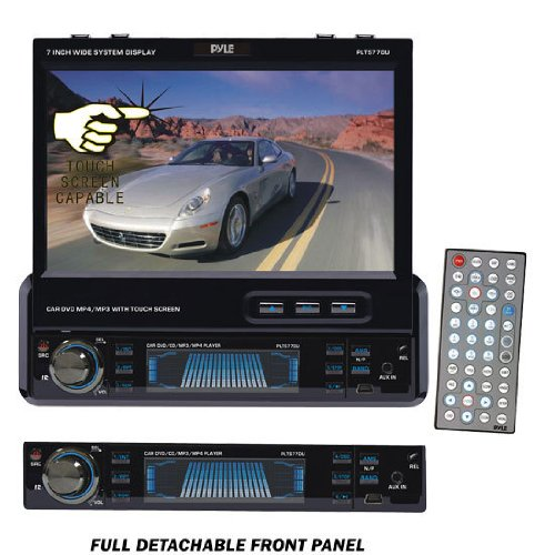 Pyle PLTS77DU 7-Inch Single-DIN In-Dash Motorized TFT/LCD ... on pyle speaker, pyle receiver wiring, pyle plmpa35 wiring guide, dual car stereo wire harness, pyle pldnv695 wiring diagrams,