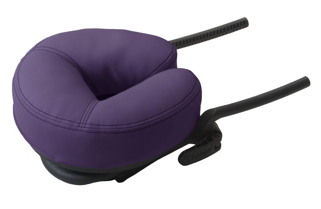 EARTHLITE Massage Table Face Cradle DELUXE ADJUSTABLE - Massage Table / Massage Chair Headrest Platform with Face Pillow, Amethyst by EARTHLITE