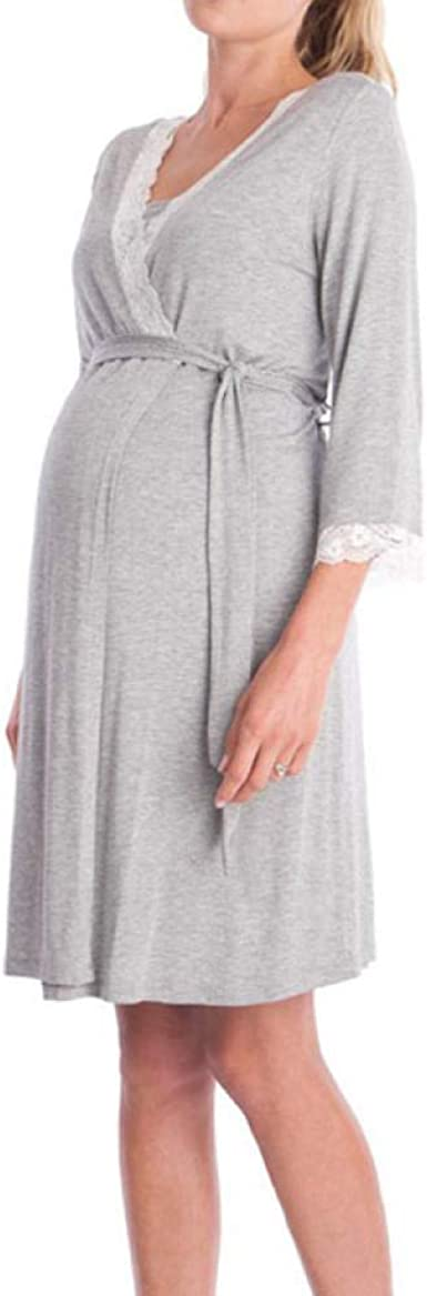 Camisón Lactancia Pijama Embarazo Maternidad Camisón Pijamas ...