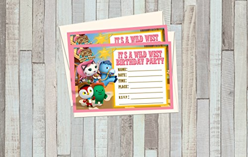 12 SHERIFF CALLIE Birthday Invitations (12 5x7in Cards,