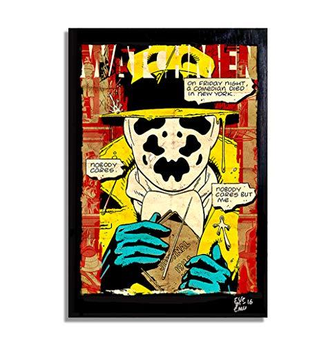 Watchmen Rorschach DC Comics (Los Vigilantes) - Pintura Enmarcado Original, Imagen Pop-Art, Impresion Poster, Impresion en Lienzo, Cuadro, Comics, Cartel de la Pelicula