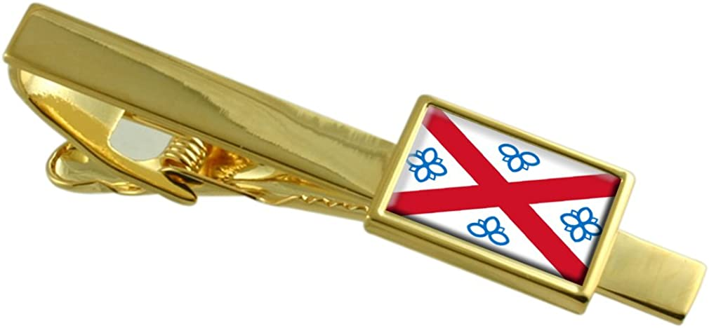 Penrith City England Flag Gold-tone Tie Clip Engraved Personalised