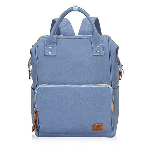 Veegul Stylish Doctor Style Multipurpose Travel Backpack Everyday Backpack for Men Women Single Pocket Light Blue ()
