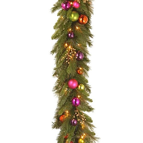 "6' x 16"" Pre-Lit Kaleidoscope Artificial Christmas Garland – Warm White LED - Amazon.com: 6' X 16"" Pre-Lit Kaleidoscope Artificial Christmas"