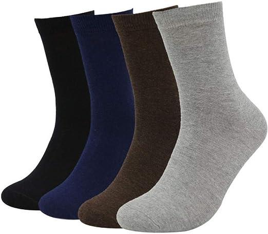 ZKZK Calcetines de algodón para Hombre 10 Pares Calcetines de ...