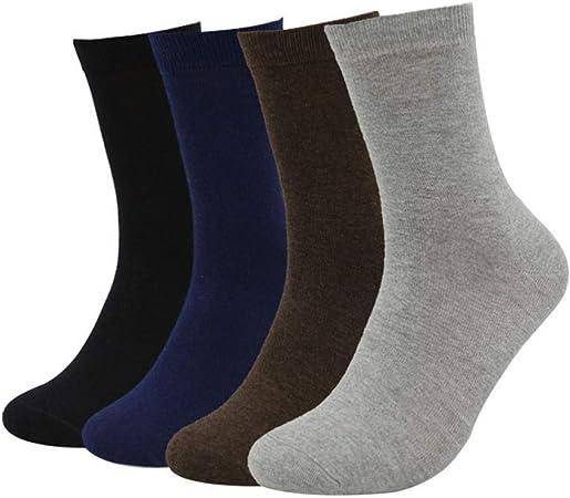 ZKZK Calcetines de algodón para Hombre 10 Pares Calcetines de Nuevo Mens Calcetines de algodón Vestido de Verano de Negocios sólido de Color Negro Corto Blanco Calcetines Medias Invierno Hombre: Amazon.es: Hogar
