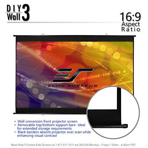 Elite Screens 3, Portable screen 16:9, 8K Ultra HD 3D Cinema Screen, Roll-Up Hang