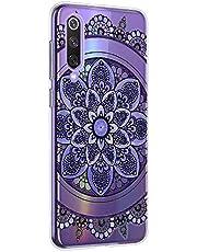 Oihxse Mandala Flores Encaje Patrón Serie Case Compatible con Motorola Moto G7 Play Funda TPU Silicona Suave Protector Ultra Slim Anti-Rasguño Transparente Carcasa (A1)