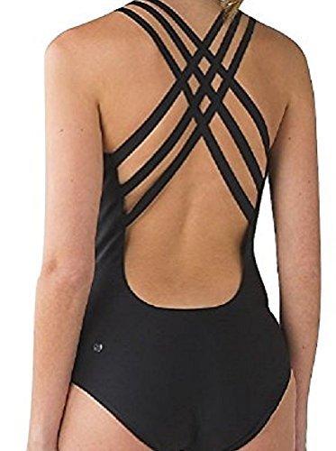 Lululemon Strappy Back One Piece Swimsuit Black - Bathing Suits Lululemon