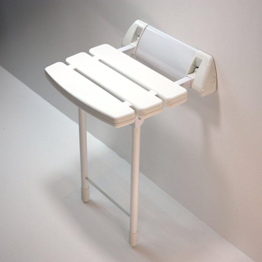 TSAR003 Aluminum Alloy And Abs Bathroom Folding Shower Seat Wall Mounted ?Height Adjustable?Specifically For The Elderly /Pregnant Women/Disabled People,13.7'' 13.3'', 330 Lb Load