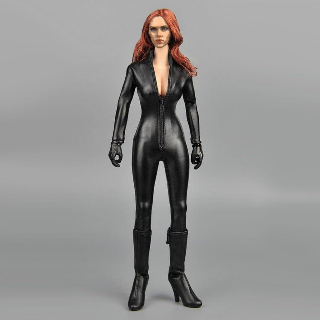 """1//6 Jumpsuit Catsuit mit Reißverschluss für 12 /""""Phicen Kumik CY Female"""