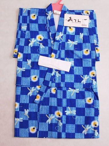 子供ゆかた 仕立上り男の子のゆかた 子供浴衣 90サイズ 紺色地のゆかた Y3563-01-90