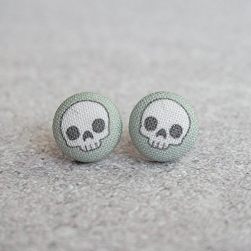 Cute Skull Fabric Button ()