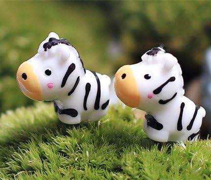 Mini animales cebra hada miniaturas jardín terrarios musgo de resina de artesanía figuritas para los accesorios de la decoración del hogar: Amazon.es: Hogar
