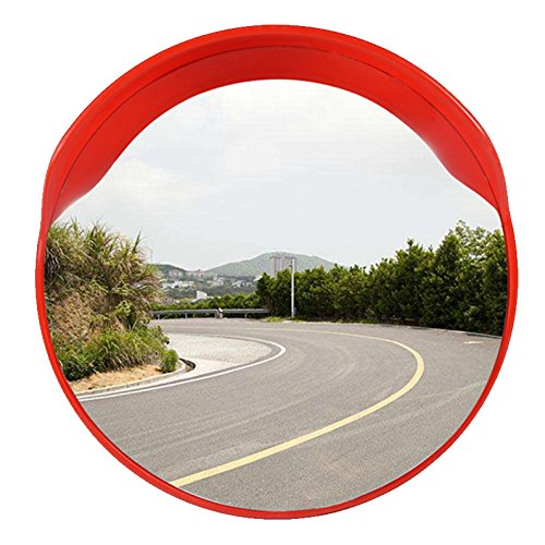 Narrow Backplate (Outdoor Safety Security Mirror for Loading Docks, Security Stations, and Narrow Drive Areas – Large Convex Safety Mirror for Arm or Wall Mounting Outside by Global Care Market (18''))