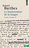 Le bruissement de la langue par Barthes