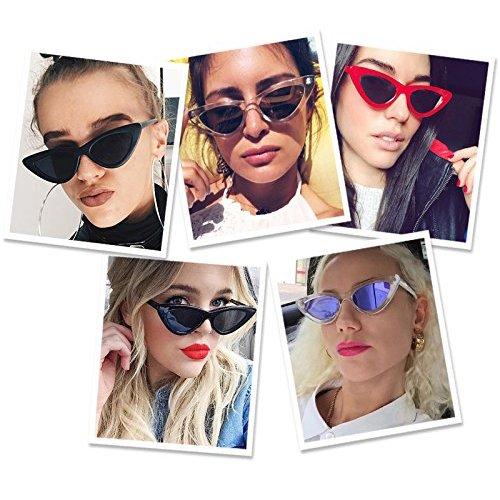 gafas Marco Gris retro gato protección mujeres Gafas de vintage Gafas sol sol Lente ojo Cobain de de niñas estilo de Tortugas Kurt para de ADEWU Yng4Bq