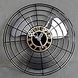 Imoerjia Creative Mute Wall Clock Antique Wall Clock, Electric Fans, 30Cm,C Diameter