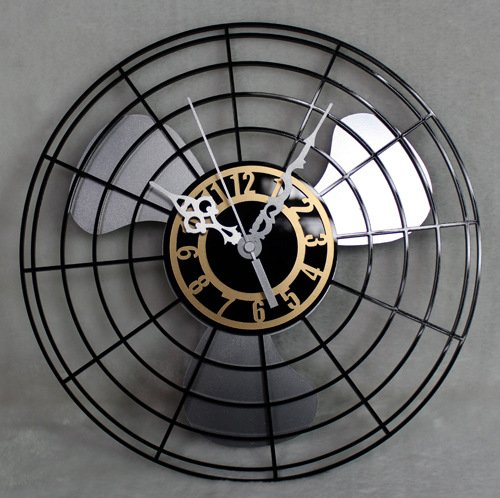 Imoerjia Creative Mute Wall Clock Antique Wall Clock, Electric Fans, 30Cm,C Diameter by Imoerjia