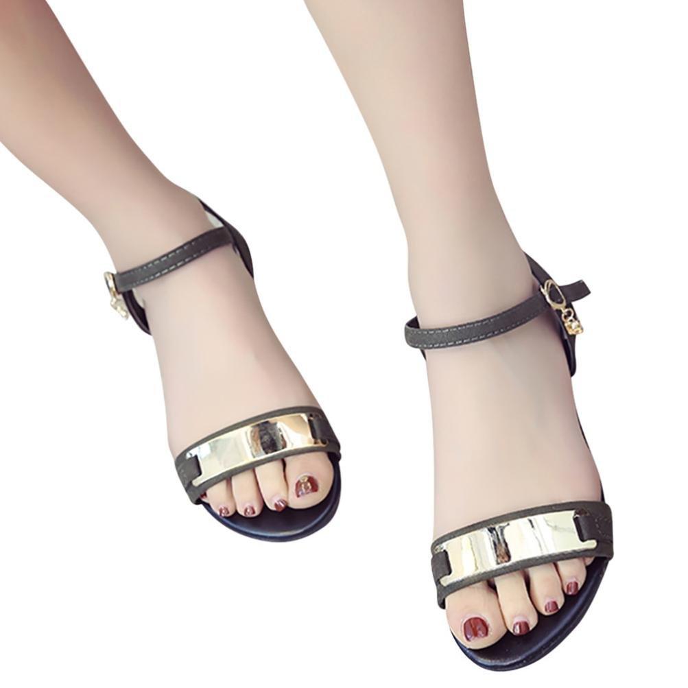 feiXIANG Mode frauen sandalen Sommer Peep toe Elegant Urlaub strand schuhe mit absatz37|Armeegr眉n