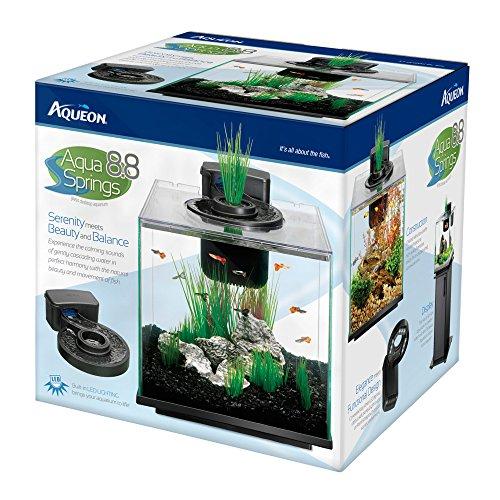Aqueon led aqua springs aquarium fish tank starter kit for Fish tank starter kit