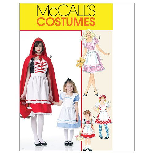 Storybook 3 Piece Costumes (McCall's Patterns M6187 Misses'/Children's/Girls' Storybook Costumes, Size KIDS [(3-4) (5-6) (7-8)])