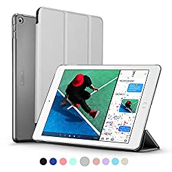 New iPad 2017 iPad 9.7 inch Case, ESR Ultra Slim Lightweight Smart Case Trifold Stand with Auto Sleep/Wake Function, Microfiber Lining, Hard Back Cover for Apple New iPad 9.7-inch,Silver Gray