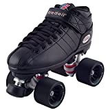 Riedell R3 Demon Roller Skates (Black Wheels, Size 1)