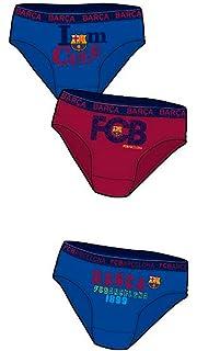 FCB Pack 3 Slips Niño FC Barcelona-BARÇA (Talla 12)  Amazon.es  Ropa ... b28da5f7003