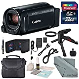 Canon Vixia HF R800 HD Camcorder (Black) Bundle W/ 32GB SD Card, Camcorder Case, Cleaning Accessories and Fibertique Cleaning Cloth