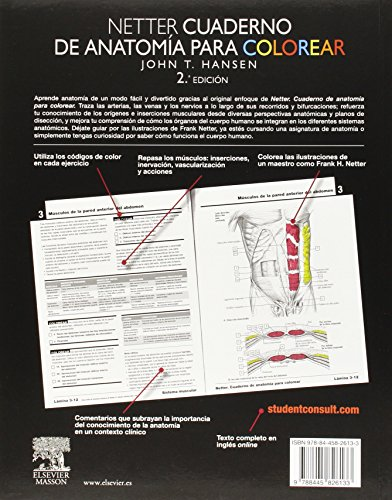 Netter. Cuaderno de anatomía para colorear. Student consult ...