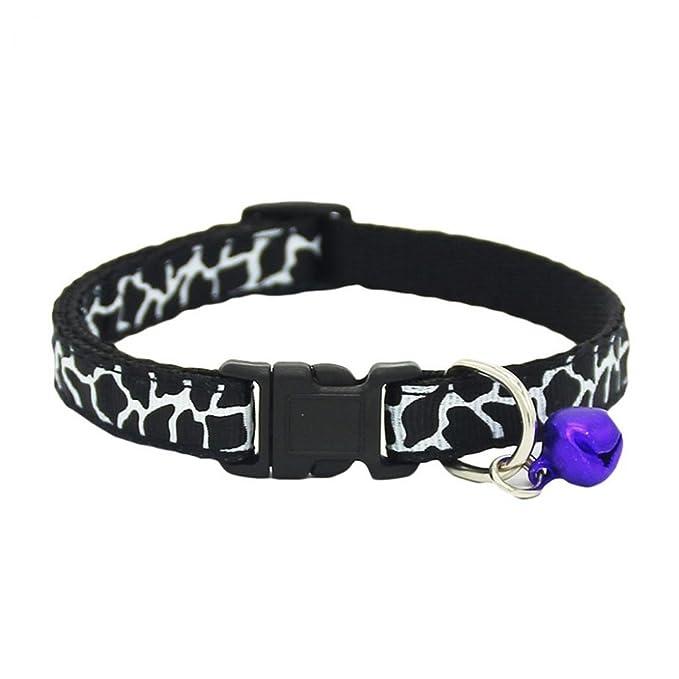 Collar ajustable moderno con cascabel láser para perros pequeños, cachorros, gatos y otras mascotas: Amazon.es: Productos para mascotas